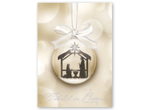 Ornamental Nativity Religious Holiday Card